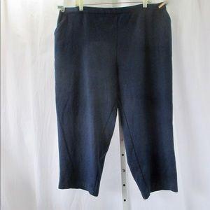 White Stag Knit Capri Pants Sz 22/24W Navy Blue